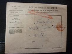 Lot Du 24.01.17_, A Voir! LSC  De  Paris , Tombé Au Rebut Cachet Rouge,voir Vreso - Postmark Collection (Covers)