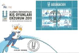 Turkey; FDC 2011 25th WINTER UNIVERSIADE, Erzurum - 1921-... République
