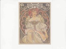 Postcard - Alfons Mucha - Reverie 1897  - Very Good - Cartoline