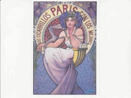 Postcard - Alfons Mucha - Loss Cigarrilos Parris 1897  - Very Good - Cartoline