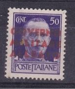 1944 Amg  Napoli 50 Cent Sovrastampa Arancio Mnh