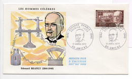 - FRANCE - FDC AMIENS 11.4.1970 - Physicien Edouard BRANLY -