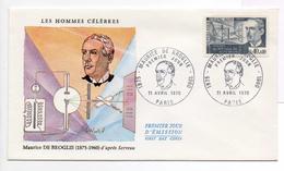 - FRANCE - FDC PARIS 11.4.1970 - Physicien Maurice DE BROGLIE -