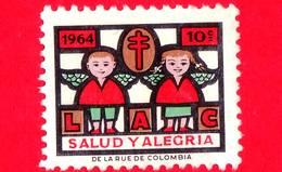 COLOMBIA - Usato - 1964 - LAC - TBC - Tubercolosi - Salute E Allegria - 10