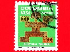 COLOMBIA - Usato - 1978 - Ciondolo In Oro - Cultura  Tolima - 3.50 P. Aerea