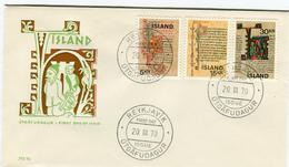 Iceland/Islande/Ijsland/Island FDC 20.III.1970 Old Icelandic Manuscripts Matching Cover FM 92 - FDC
