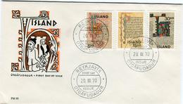 Iceland/Islande/Ijsland/Island FDC 20.III.1970 Old Icelandic Manuscripts Matching Cover FM 93 - FDC