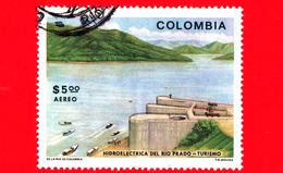 COLOMBIA - Usato - 1979 - Turismo - Centrale Idroelettrica Rio Prado - 5.00 P. Aerea