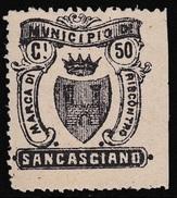 Italy Revenues Local Municipal Marca Da Bollo Comunale SAN CASCIANO