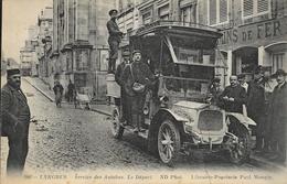 Langres - Service Des Autobus, Le Départ - Librairie Paul Mongin - Carte ND Phot Non Circulée - Langres