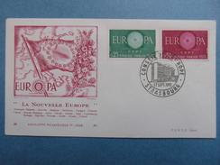 1960 - YT N° 1266 1267 EUROPA Sur ENVELOPPE ILLUSTRÉE PREMIER JOUR FDC Cachet Special STRASBOURG CONSEIL EUROPE - 1960-1969