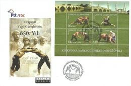 Turkey; FDC 2011 650th Anniv. Of Kirkpinar Oil Wrestling - 1921-... République