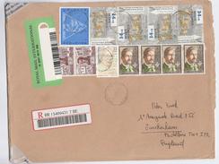 1999 REGISTERED  BELGIUM COVER  Stamps UPU ,BUYTAERT, MAX WALLER WALSHAP, BERGHMANS To GB - Belgium