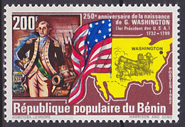Timbre Neuf ** N° 544(Yvert) Bénin 1982 - Georges Washington