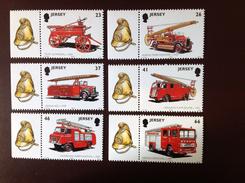 Jersey 2001 Fire Engines MNH - Jersey