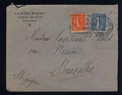 FRANCE - 1926 Yv.199&205 Obl DAGUIN LUXEUIL-LES-BAINS /Pli Pour Bruxelles (0315)