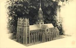 - Somme -ref-B916- Corbie - Carte Photo Maquette D Eglise - Maquettes - Compagnonnage ?  Photo Miette Corbie - - Corbie