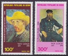 Série De 2 TP Neufs ** N° 518/519(Yvert) Bénin 1980 - Tableaux De Van Gogh