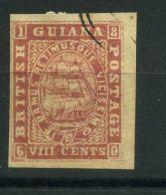 GUYANE  ( POSTE ) :Y&T N°  17  N D  TIMBRE  OBLITERE , A  VOIR . - Britisch-Guayana (...-1966)