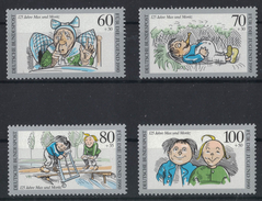 JP311     Bund 1990 MiNr.1455 - 1458 ** Postfr. Jugend, 125 Jahre Max Und Moritz