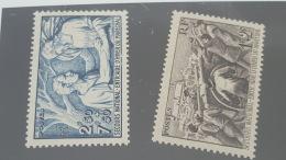 LOT 354610 TIMBRE DE FRANCE NEUF** N°497/498 VALEUR 14,35 EUROS