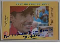 Cyclisme - Didier MONCOUTIE - Signé De - Dédicace - Hand Signed - Autographe Authentique - Cyclisme