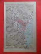 Gravure Lithographie 1901 Brockhaus Carte Plan LA SPEZIA Und Umgebung  Et Les Environs. - Carte Geographique