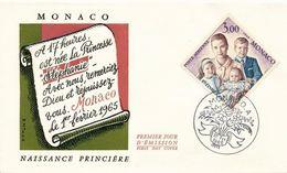 FDc MONACO  NAISSANCE DE LA PRINCESSE STEPHANIE MONACO  1966 -YT  PA 85