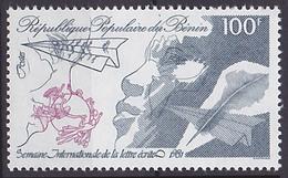 Timbre Neuf ** N° 534(Yvert) Bénin 1981 - Semaine Internationale De La Lettre écrite