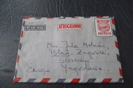 143. Aerograme Australia-Yugoslavia (Bled) - Covers & Documents