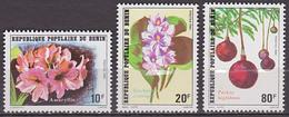Série De 3 TP Neufs ** N° 524/526(Yvert) Bénin 1981 - Fleurs