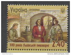 UKRAINE, 2015, MNH , BEER, LVIV BREWERY,  1v
