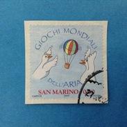 2009 SAN MARINO FRANCOBOLLO USATO STAMP USED - GIOCHI MONDIALI DELL'ARIA 0,60 -