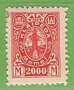 MiNr.162 X  Deutschland Deutsche Abstimmungsgebiete Memelgebiet