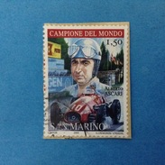 2005 SAN MARINO FRANCOBOLLO USATO STAMP USED - FERRARI ALBERTO ASCARI 1,50 -