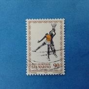 1980 SAN MARINO FRANCOBOLLO USATO STAMP USED - OLIMPIADE MOSCA 90 Lire -