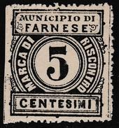 Italy Revenues Local Municipal Marca Da Bollo Comunale FARNESE