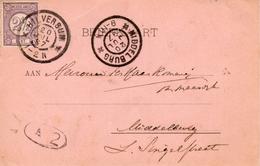 1897 Bk Van HILVERSUM Met NVPH 33 Naar Middelburg ( Grootrondstempels) - Periode 1891-1948 (Wilhelmina)