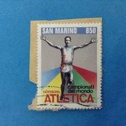 1995 SAN MARINO FRANCOBOLLO USATO STAMP USED - CAMPIONATI DEL MONDO ATLETICA 850 Lire -