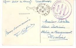 Marcophilie-Guerre 1914-1918-Cachet 13 Corps D'Armée-Atelier De Chargement De Montluçon-sur CP De 1917 - Postmark Collection (Covers)