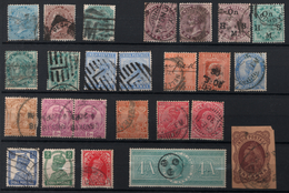 INDE INDIA LOT STAMPS USED VICTORIA QUEEN  EDOUARD GEOROGES V KING