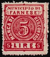 Italy Revenues Local Municipal Marca Da Bollo Comunale FARNESE 2