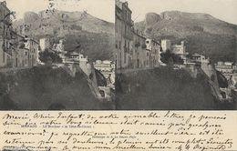 "Carte Stéréoscopique E. Le Deley - Monaco, Le Rocher ""la Tête De Chien"" - Dos Simple - Stereoscopische Kaarten"
