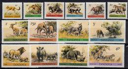 B5093 TANZANIA 1980, SG 307-20  Wildlife,  MNH