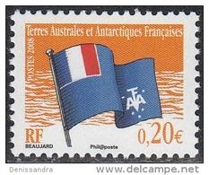 TAAF 2008 Yvert 498 Neuf ** Cote (2015) 0.40 Euro Drapeau Des TAAF - Terres Australes Et Antarctiques Françaises (TAAF)