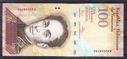 VENEZUELA 2011 100 BOLIVARES. SIMON BOLIVAR   EBC . B1025 - Venezuela