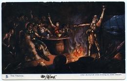 QV VICTORIA - ONE PENNY (LATE USAGE - 1905) / THE VIKINGS (TUCK'S OILETTE) (ARTIST : ALLAN STEWART) - Australia