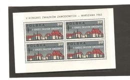 POLOGNE  BLOC N° 33  NEUF ** MNH DE1962    PRIX  5€