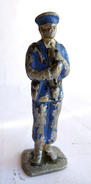FIGURINE QUIRALU Soldat Porte Drapeau MARIN - ALUMINIUM Incomplet - Quiralu