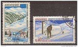 Andorra Francesa U 175/176 (o) Juegos De Invierno. 1966